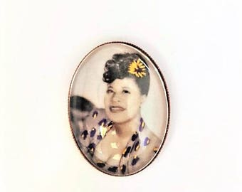 Ella Fitzgerald hand embroidered brooch
