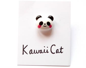Silver Plated Panda Ring Adjustable Kawaii Panda Jewellery Cute Ring Kawaii Ring Kawaii Jewelry Panda Accessories