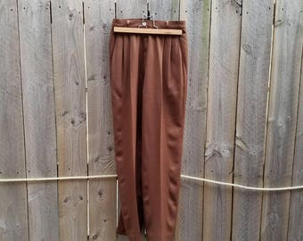 Vintage Paul Stanley Brown Wool Trouser Pant Size Small