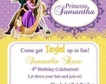 RAPUNZEL TANGLED Birthday Invitation (Digital) (Printable) (Personalized)