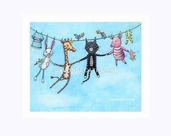 Nursery animal print, baby wall art, prints for nursery, wall art for kids, childrens wall art, nursery art print, childrens decor