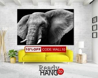 Elephant Canvas Art, Elephant Canvas, Print Elephant, Wall Decor, Elephant Wall Art, Elephant Home Decor, Elephant Canvas, Elephant Art