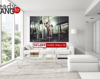 fitness motivation wall decal home gym decor decide commit
