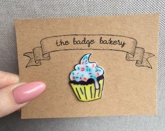 Yummy Cupcake Pin Badge
