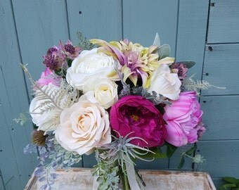 Silk wedding bouquet - Bridal bouquet - Artificial bouquet