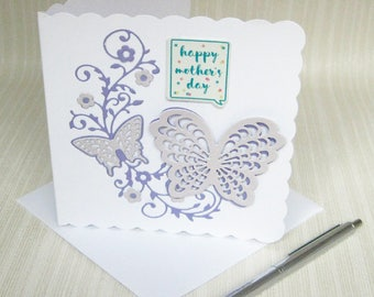 Elegant Butterfly for mum, Mothering Sunday, Mothers Day, Mums Butterfly Card, Card for Mum, Mothers Butterfly, Mum's Card