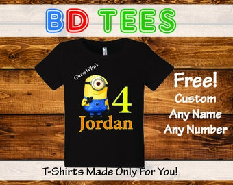 salesale Minions Birthday Shirt Custom personalized shirts for all family.