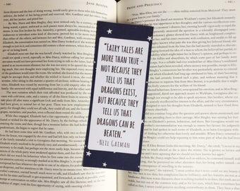 Neil Gaiman Stars Quote Bookmark