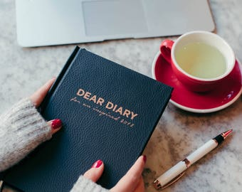 2018 Dear Diary Inspirational Lifestyle planner | Weekly planner | Goal-setting, habit-tracking, weekly and daily to-do's | NAVY