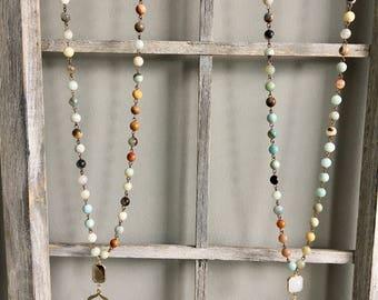 Blossom/Pendant Amazonite Necklace