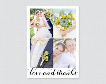 Printable OR Printed Photo Thank You Cards - Wedding Photo Thank You Cards with Four Pictures - Custom Thank You Cards, Thank You Cards 0005