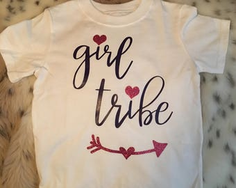 Free shipping!! Cute girl tribe t shirt, girl tribe toddler top