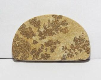 40% off  Psilomelane- Dendritic Limestone cabochon 39X23X4 mm Size, Fancy Shape Gemstone Cabochon, +++ AAA Quality Gemstone Pdf#1810
