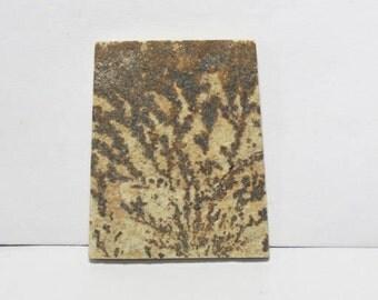 40% off  Psilomelane- Dendritic Limestone cabochon 35X29X4.5 mm Size, Fancy  Shape Gemstone Cabochon, +++ AAA Quality Gemstone Pdf#1811