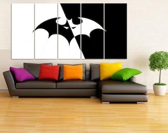 Batman Canvas Print, Batman Poster, Batman Wall Decals, Batman Wall Art, Superhero Wall Art, Batman Arkham Knight, Batman Begins, DC comics
