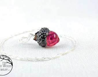 Romantic Rose Necklace, Real Rose Necklaces, Real Roses Jewelry, Dried Rose Jewelry, Dried Rose Amulets, Small Rose Necklace, Rose Amulets