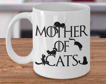 Mother of cats mug, Cat lover gift, Mother of cats gift, Cat mom mug, Worlds best cat mom mug, Cat mug for her, Gift for cat owner