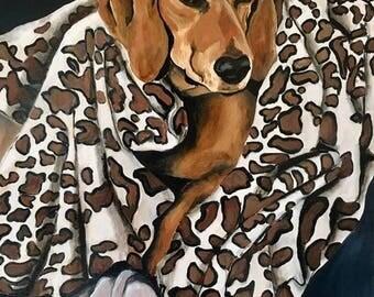 Custom oil on canvas pet portrait