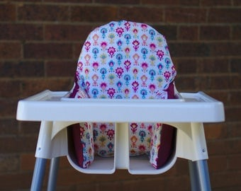 Retro Baby IKEA High Chair Cushion Cover, Birthday High Chair Cover, Antilop Highchair Insert Pad, Baby Nursery Decor, Trending Baby Item