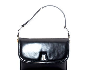 Vintage Lanvin black shoulder bag