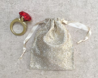 unique smallbag gold and white - reusable bag - zero waste