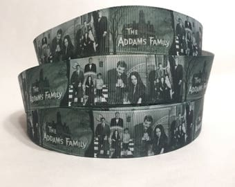 """1/3/5/10 Yards - 1"""" Original Adams Family Grosgrain Ribbon"""