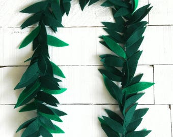 Felt Leaf Lei | Lei for Boys | Moana Costume | Tropical Party | Hawaii Theme | Tropical Party Favor