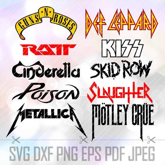 Svg Heavy Metal Hard Rock Band Metallica Acdc Kiss Logo Vector