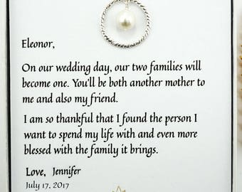 Mother of the Groom Gift, Mother in Law Gift,Eternity Necklace, Wedding Gift, Mother of the Groom Necklace, Sterling Silver