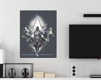 Assassin's Creed Work In The Dark To Serve The Light Wall Decal Officially Licensed by Ubisoft