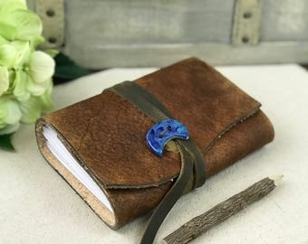 Personalized Leather dream notebook, Leather dream book, Blank dream diary, Leather dream journal, Leather dream diary