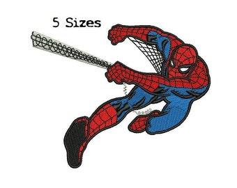 Spiderman 5Sizes Digitized filled Machine Embroidery Design Digital Download