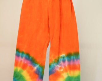 Tie Dyed Yoga Pants - Size 2 - Cotton - Girls - Boho - Boy - Beach - Gypsy - FREE SHIPPING within AUS