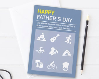 Father's Day Manual Card for Dad