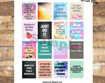 Fitness and Workout Stickers - Quotes and Motivation for Erin Condren Planners