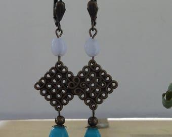Turquoise Bohemian earrings