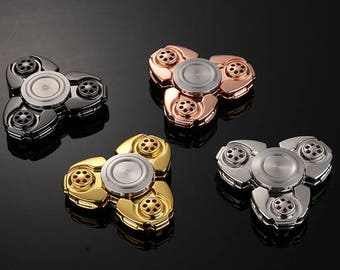 NEW Premium UFO Metal Spinner Fidget [3D Figit] ADHD Focus Toy With Long rotation, Stable & Small Friction, For Anxiety Stress Relief
