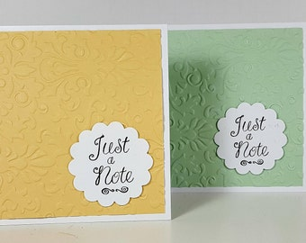 Note Cards - Set of 6 Note Cards - Embossed Note Cards