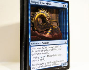 3D Card Magic: the Gathering Striped Riverwinder