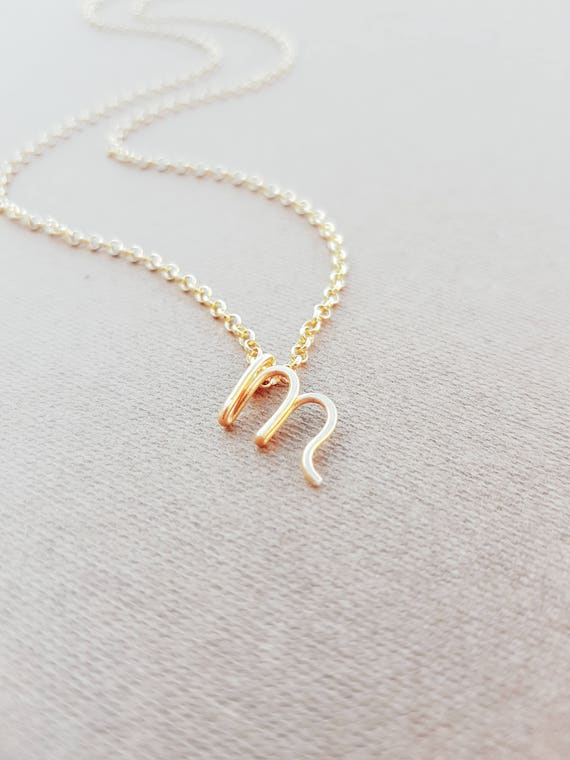 letter a initial necklace letter m necklace gold initial necklace cursive letter 17416 | il 570xN.1312179549 n7m1