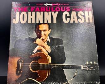 JOHNNY CASH VINYL Record - The Fabulous Johnny Cash - Rare Vintage Original Vinyl Record - Collectible Lp - Great Gift!