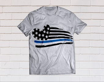 American flag svg, Thin blue line, Heart, Police svg, Law Enforcement, SVG Files, Cricut, Cameo, Cut file, Files, Clipart, Svg, DXF, Png Eps