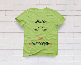 Eyelashes svg, Eye lashes svg, Lashes svg, Hello weekend svg, Eye svg, SVG Files, Cricut, Cameo, Cut file, Clipart, Svg, DXF, Png, Pdf, Eps