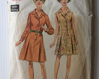 Vintage 1960's Simplicity sewing pattern 8003 - Misses' shirtdress - size  14
