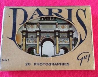Vintage photo booklet - Paris souvenir album real photos - vintage 1950 photos - 1950's France souvenir