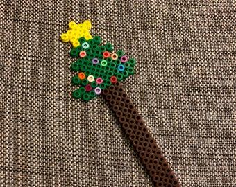 Christmas Tree Bookmark - Perler Beads