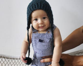 The Woodland Bonnet, pixie hat, pixie bonnet, bonnet, green, woodland, baby hat, baby bonnet, baby shower gift, baby boy, baby girl