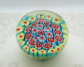 small rosette marble paperweight