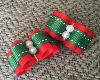 Santa's workshop Dog bows