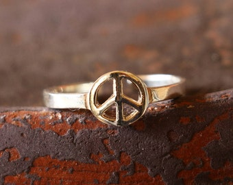 Peace Toe Ring, Peace Sign, Ring, Silver Ring, Sterling Silver Ring, Fashion Ring, Silver Jewellery, Antique Ring, Antique Jewellery, JT0009